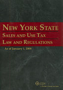 New York State Sales and Use Tax Law and Regulations (As of January 1, 2008)