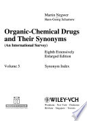 Organic-chemical drugs and their synonyms