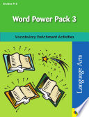 Word Power Pack 3 for Grades 4 5 Book