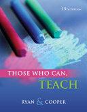 Cengage Advantage Books Those Who Can Teach PDF