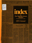 Index to the Christian Science Monitor Book