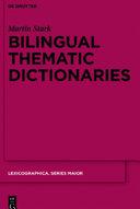 Bilingual Thematic Dictionaries