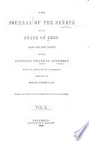 The Journal of the Senate of the     General Assembly of the State of Ohio