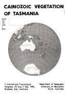 Cainozoic Vegetation of Tasmania Book PDF