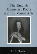 The English Mannerist Poets and the Visual Arts