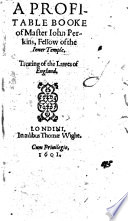 A profitable booke     treating of the lawes of England