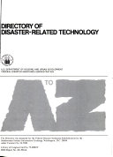 Directory of Disaster related Technology  a to Z