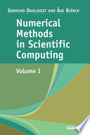 Numerical Methods in Scientific Computing