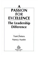 A passion for excellence  Book