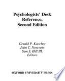 Psychologists  Desk Reference