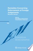 Remedies Concerning Enforcement of Foreign Judgements