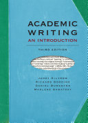 Academic Writing  An Introduction   Third Edition