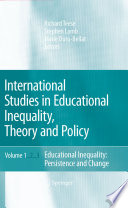 International Studies In Educational Inequality Theory And Policy PDF