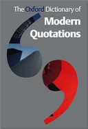 The Oxford Dictionary Of Modern Quotations PDF