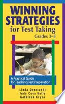 Winning Strategies For Test Taking Grades 3 8