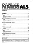 Guide to Selecting Engineered Materials
