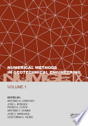 Numerical Methods in Geotechnical Engineering IX, Volume 1