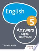 English Year 5 Answers
