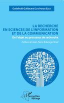 Pdf La recherche en sciences de l'information et de la communication Telecharger