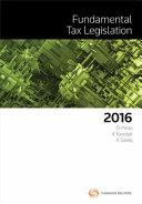 Fundamental Tax Legislation 2016
