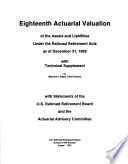 Actuarial Valuation of the Assets and Liabilities Under the Railroad Retirement Acts as of December 31