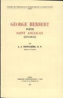 George Herbert poète, saint anglican (1593-1633)
