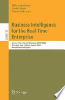 Business Intelligence For The Real Time Enterprise Book PDF