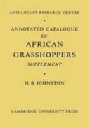 Annotated Catalogue of African Grasshoppers