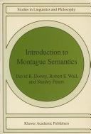Introduction to Montague Semantics