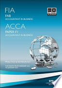 FIA Foundations of Accounting in Business   FAB  Kit