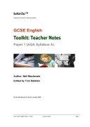 GCSE English AQA (A) Paper 1 Companion