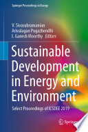 Sustainable Development in Energy and Environment