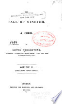 The Fall of Nineveh  Book the Seventh Book the Thirteenth