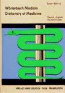 W Rterbuch Medizin Deutsch Englisch Mit Etwa 75000 Wortstellen