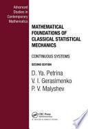 Mathematical Foundations of Classical Statistical Mechanics