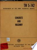 Concrete and Masonry Book