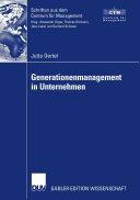 Generationenmanagement in Unternehmen Pdf/ePub eBook