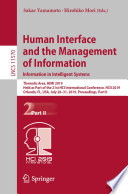 Human Interface and the Management of Information  Information in Intelligent Systems