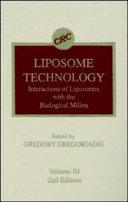 Liposome Technology  Second Edition