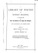 A Library of Poetry for Sunday Reading