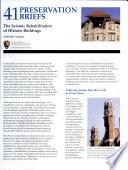 The Seismic Rehabilitation of Historic Buildings