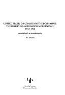 United States Diplomacy on the Bosphorus