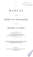 A Manual of the District of Vizagapatam  in the Presidency of Madras Book