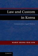 Law and Custom in Korea