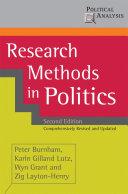 Research Methods in Politics Pdf/ePub eBook