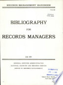 Bibliography For Records Managers