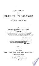 Ten Days in a French Parsonage in the Summer of 1863 Pdf/ePub eBook