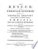 The Rescue: Or, Thespian Scourge