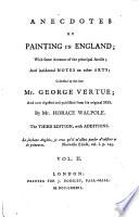 Anecdotes of Painting in England, 2