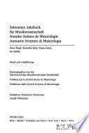 Annales suisses de musicologie